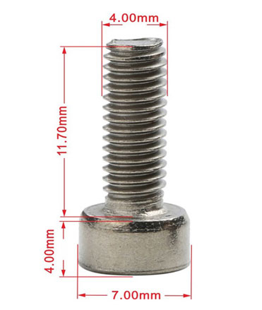 Titanium Cap Head Screws