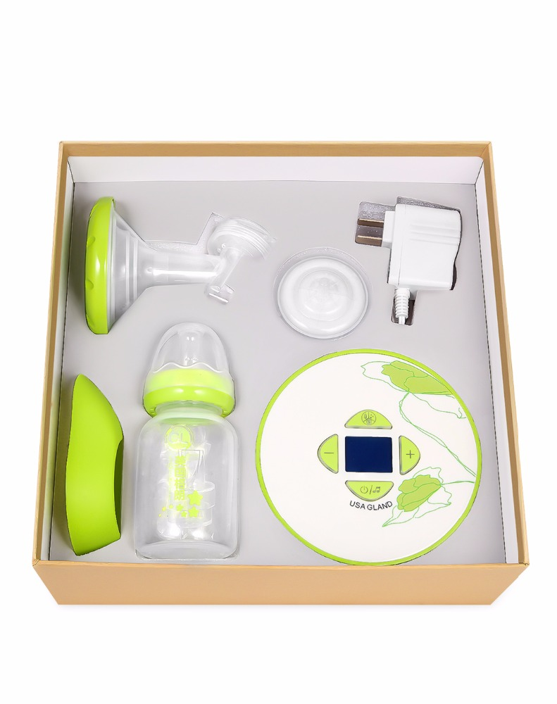 Battery or DC portable powered electric stimulation breast pump for car use