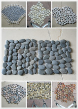 The natural blue river mesh cobblestone tiles with net