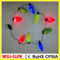 2016 China factory flashing christmas LED light charm necklaces