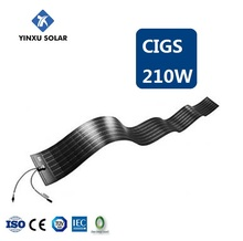 hot popular china CIGS solar panel 210w thin film solar module flexible solar panel 210w