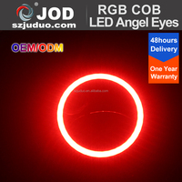 Multi-Color LED Motorcycle RGB Halo Rings Lighting 100mm RGB COB LED Angel eyes