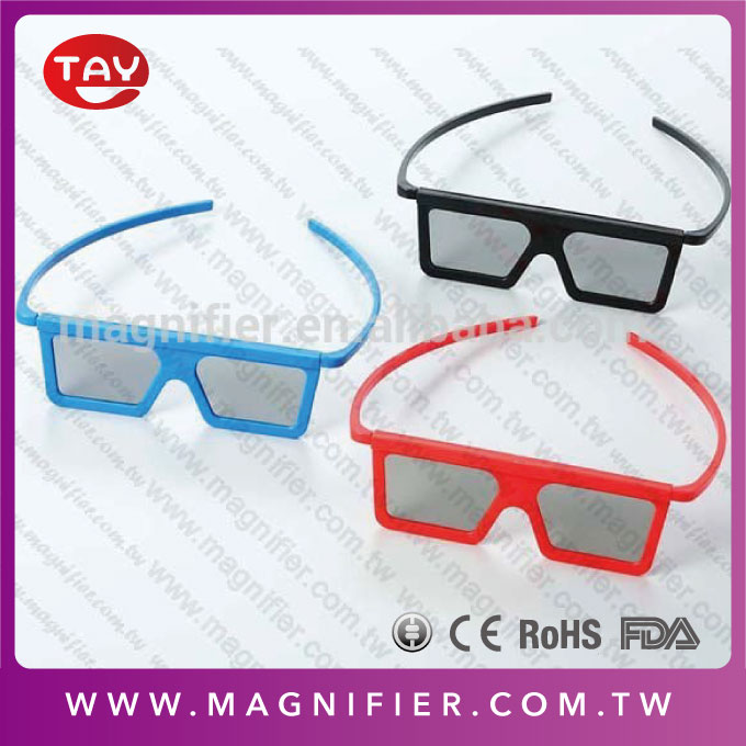 free sample colored framed plasic glasses helpful for reading movie blue 3d glasses