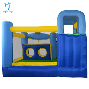 0.55mm pvc tarpaulin inflatable bounce bed jumping house for kids