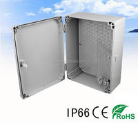 hinged waterproof plastic enclosure 400x300x160mm