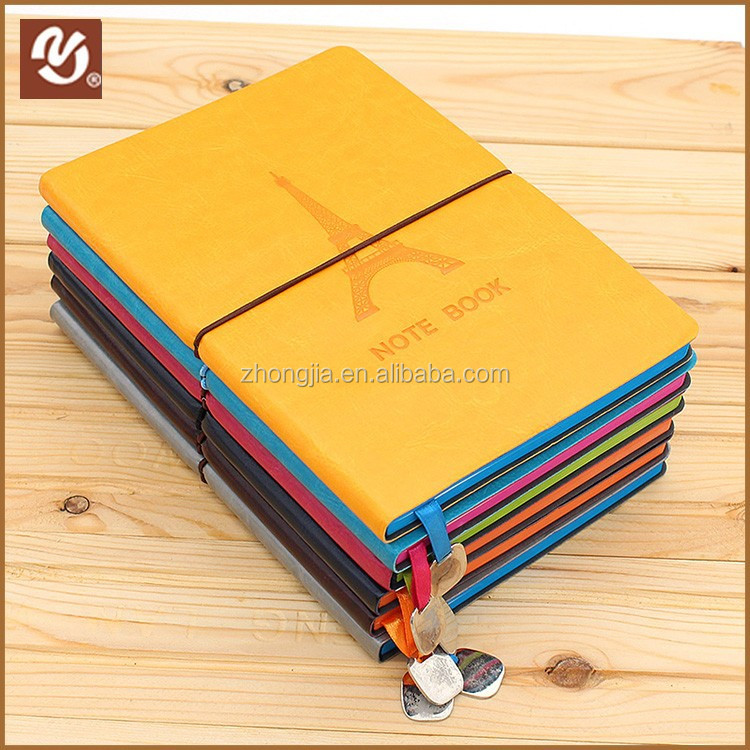 2016 Unique design colorful diary notebook PU bound