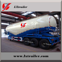 China manufacturer widely used bulk cement and powder tanker transport semi trailer