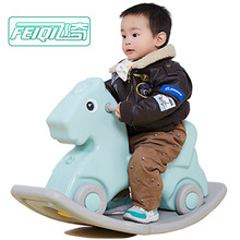2018 new rocking horse plastic toddler toys ride on animals toy with wheel