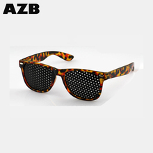 AZB Hot selling pinhole glasses Black Unisex Vision Care Eyeglasses Correction of myopic astigmatism strabismus dropshiping
