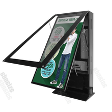 Asianda 75 inch free standing double sided outdoor LCD advertising display