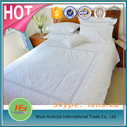 Discount Cheap White 100 Cotton Bed Sheet Cover with Embroidered Frame