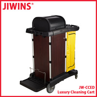 Hotel Housekeeping Maid Cart Trolley With Lockable Wooden Doors