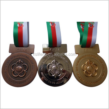 Custom OEM metal arts crafts 3D Gold Finishing Sports Medal