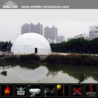 Factory direct supply clear inflatable dome tent