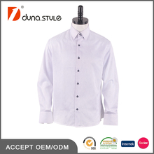 Best selling products in America Jacquard weaving Wing collar pure white shirt man