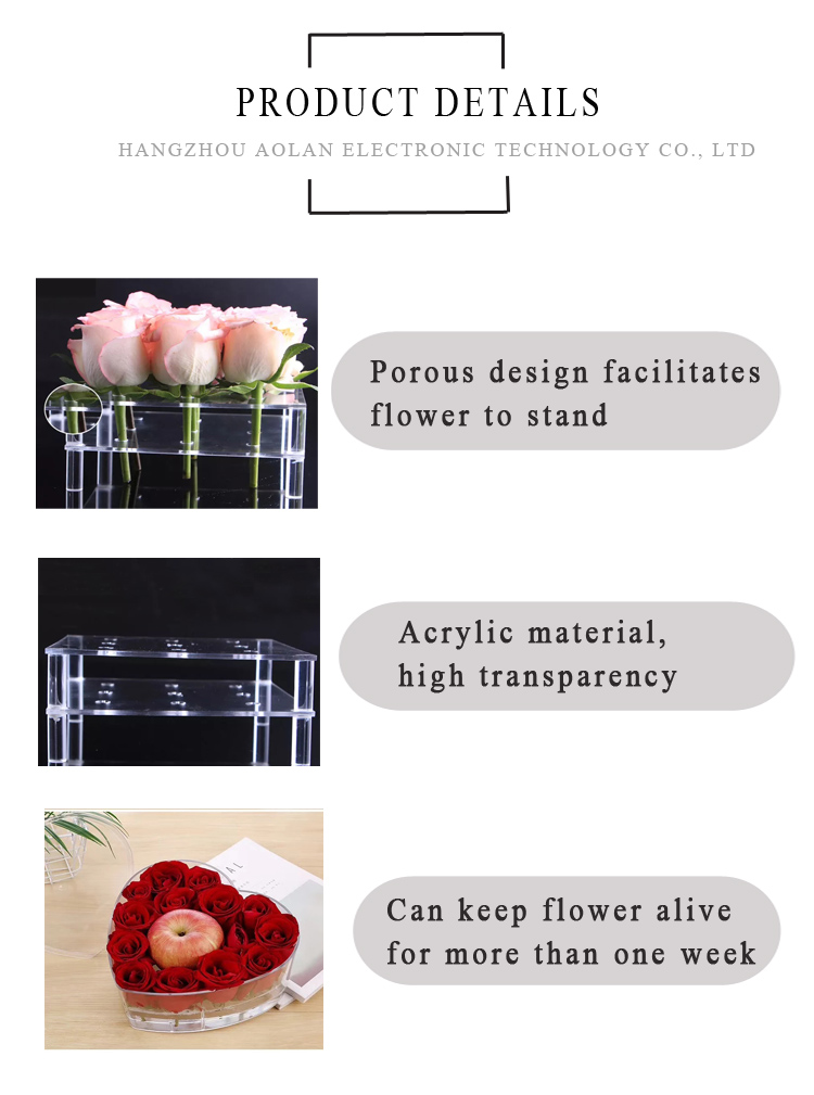 Top Popular Acrylic Flower Box gift box