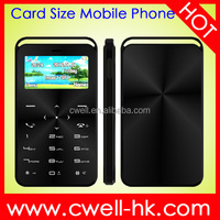 DAXIAN GS6 Small Card Size Bluetooth Dialer plastic phone handset Ultra thin magic voice phone
