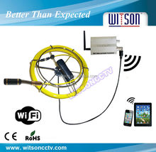 WITSON wireless borescope endoscope inspection camera with different camera head for optional