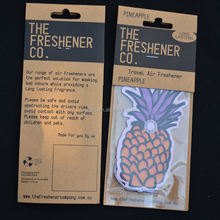 hot selling creative pineapple shaped fashionable aroma soaked car air freshener