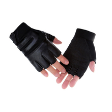 Antislip leather winter hunting shooting gloves