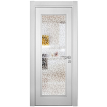 2014 New Design White Melamine Frosted Glass Kitchen Cabinet Door