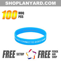 China Supply Free Sample Fitness Silicone Rubber Bracelet