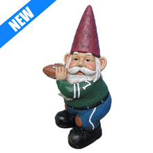 personalized resin hand painted decorative football gnome