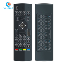 2.4G Air Fly Mouse Wireless Mini Keyboard with Backlit IR learning Remote Control for Smart TV Android TV Box PC HTPC Projector