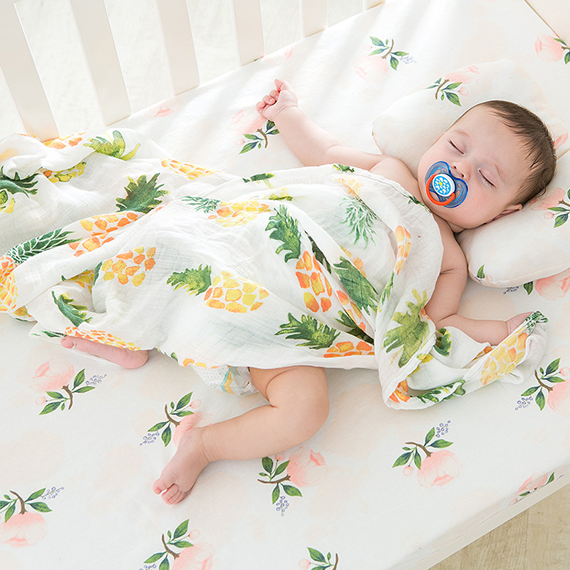Baby Swaddle Cotton Burping Cloth Stroller Feather Print Bamboo Boys and Girls Bath Towel nursing Wrap Blankets Cover