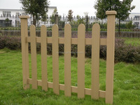 Best Price Plastic Wood Composite Fence Board WPC Garden Fence