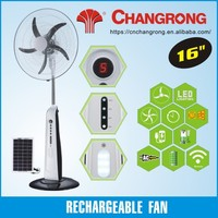 12V battery rechargeable fan solar powered standing fans electric