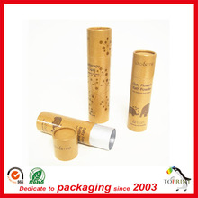 Lipstick paper tube with oil paper material waterproof lip balm tube with aluminum foil inside CMYK printing
