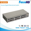 24 ports RJ45 ports Gigabit Ethernet Smart Switch with be restored to overwrite via Web UI and Reset button