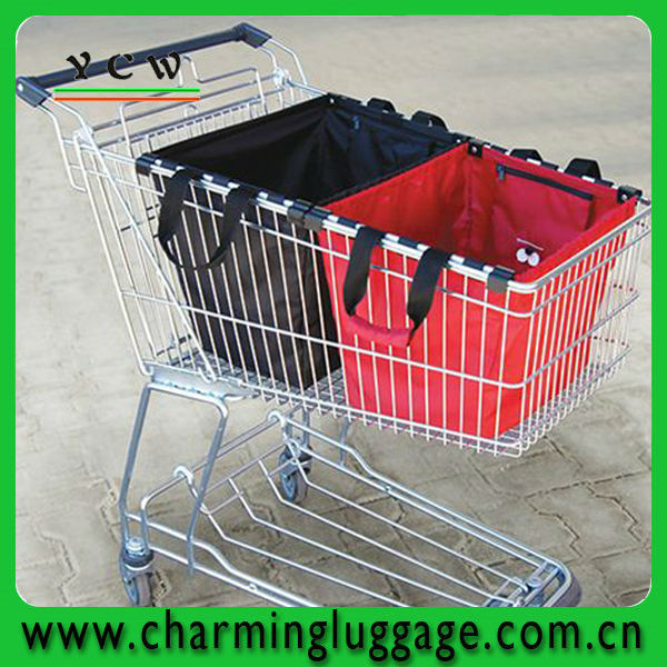 fabric foldable trolley shopping bags wholesale