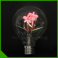 New Design Decorative Filament Light Bulbs With Two Flowers