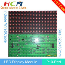 Wholesale Semi-outdoor P10 Red Color 320*160mm LED Display Module