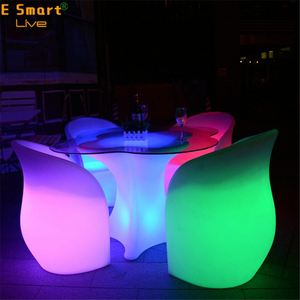 Best Sale Super Bright Led Cube Bar Stool Led Glowing Chair