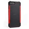 TPU+PC+PU Carbon Fiber Shockproof Impact Resistant Bumper Case for iphone