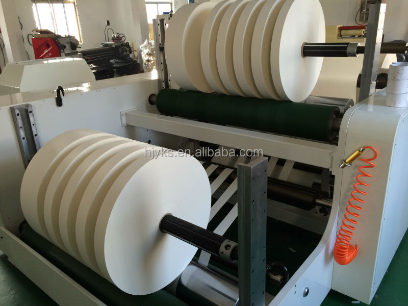 HJY-FQ15 low price China non-woven cloth slitting and rewinding machinery