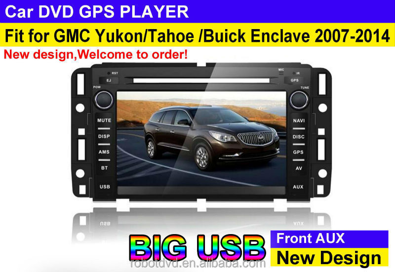 BIG USB model fit for GMC Yukon/ Tahoe/buick enclave 2006-2014 in dash car dvd gps system