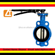 butterfly valve wafer type hand lever