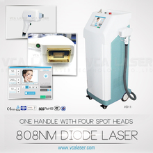 VCA hottest sale diode laser hair removal/professional 808nm wave length for hair removal/permanent result