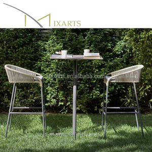 Mixarts outdoor stainless steel rope bar stools chair and tables furniture for sale