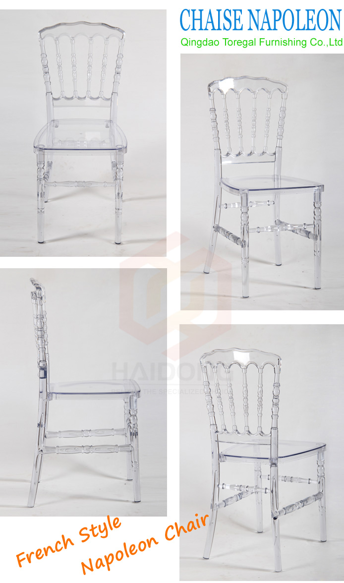 Clear Transparent Polycarbonate Resin Napoleon Chair for EventS