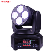 4pcs Mini LED Moving Head Light Wash RGBW 4in1 DMX512 Moving Head Light DJ Bar Party Wedding