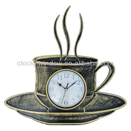 coffee cup shape wall clock 2013 patented product