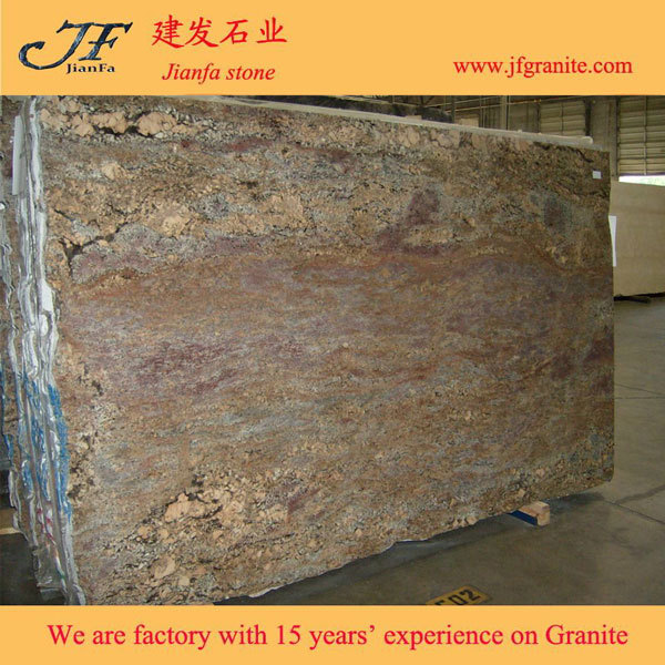 Crema Bordeaux Raw Granite Slabs For Bathroom Products
