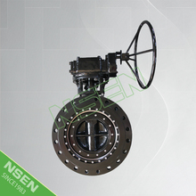 NSEN New Product! Triple Offset Double Flange Metal Seated Butterfly Valve A216 WCB