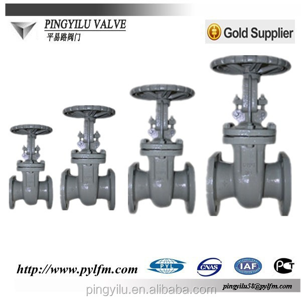 gold supplier dn100 hand operated cast steel gate valve with prices