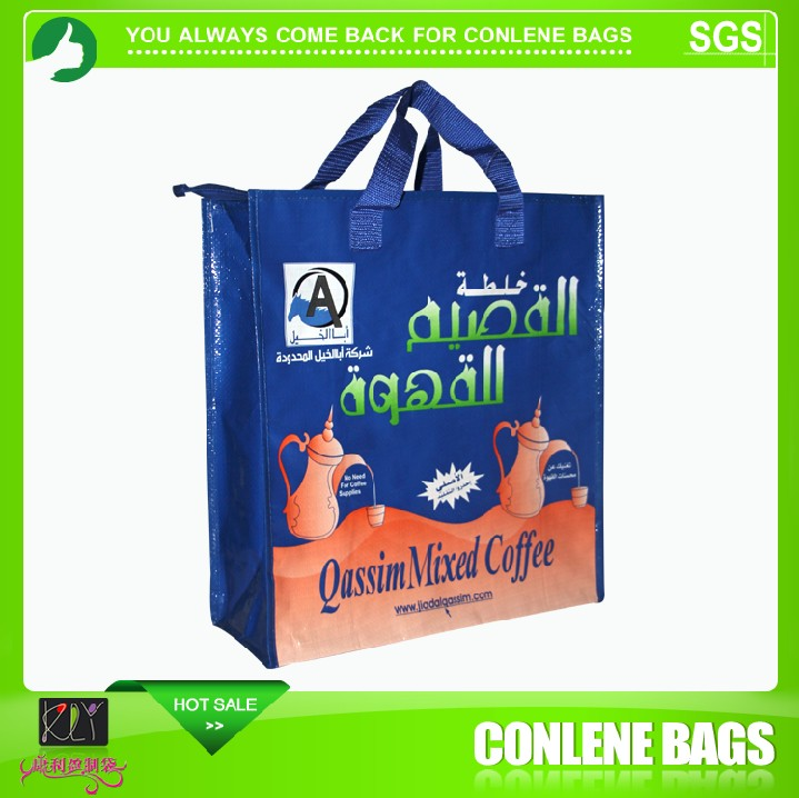 china manufacturer promotion pp woven shopping bag with zipper